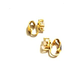 Vintage Gold Clip Earrings